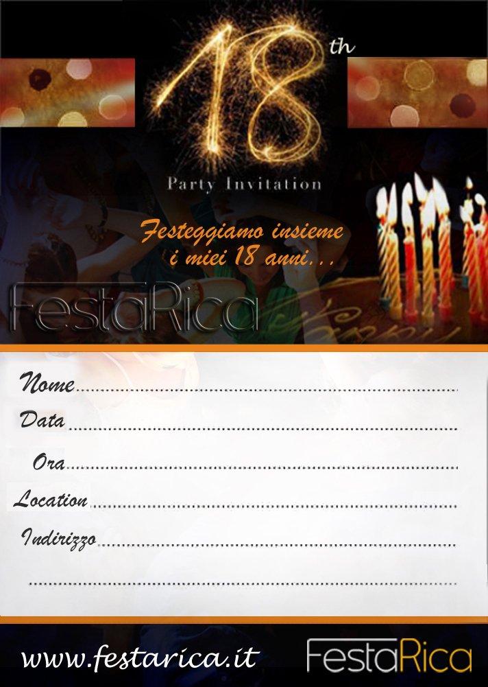 Estremamente Invito-compleanno-18-anni - FestaRica ZU67